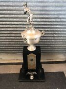Vintage 1956 Baseball Trophy Tall Coca Cola Bottlers Award Maryland State Champs
