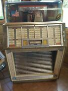 Antique 1950s Seeburg Select O Matic Jukebox Plays 45rpms Works Great