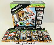 New Authentic Mattel Minecraft Crafting Table And Refill Packs 1 2 3 4 Complete