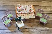 Fisher Price Loving Family Sweet Sounds Pizza Birthday Table 4 Chairs Highchair