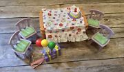 Fisher Price Loving Family Sweet Sounds Pizza Birthday Table 4 Chairs Gift