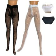 Eledoll Clothes Fashion Pack For 11.5andrdquo Doll Black White Hosiery Nylons Fishnet