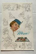 Vintage Pan Am Clipper Menu In French And English