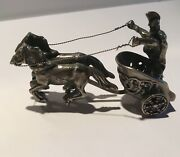 Roman Chariot - Miniature Model Sterling Silver 2-wheels Chariot