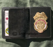 68 Whiskey Us Army Combat Medic Ems Emt Paramedic Gold Badge With Wallet
