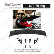 Forged Carbon Rear Spoier Kit For 14-17 Bmw F8x M2 M3 M4 3dd-style Gt Wing
