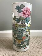 Chinese Porcelain Authentic Hatstand Vase Qing Dynasty With Original Markings