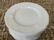 Vintage Westmorland Indiana Glass Grape Milk Glass 8andrdquo Luncheon Plates 12 Plates