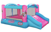 New Lol Surprise Jump And039n Slide Inflatable Bounce House With Blower Kidand039s Toy