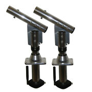 Leeand039s Tackle Sw9300 Sidewinder Bolt-in Outrigger Mounts Lay-down Version Silver