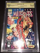 The New Mutants 98 9.2 Cbcs Signed By Stan Lee/marvel Comics/not Cgc