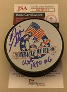 Bill Baker Olympics Signed Team Usa 1980 Miracle On Ice Puck Autographed Jsa