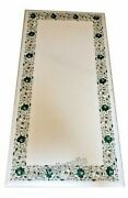 24 X 60 Inches Marble Dinning Table Top Malachite Stone At Border Meeting Table