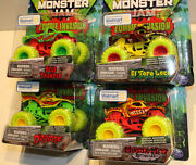 Lot Of 4. Spin Master Monster Jam Truck 2020 Zombie Invasion Walmart Exclusives.