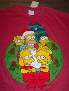 Vintage Style The Simpsons Family Christmas T-shirt Xl New W/ Tag Homer Bart