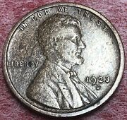 1923 -s. Extra Fine Lincoln Wheat Penny. Beautiful. °key Date° Lincoln Cent.