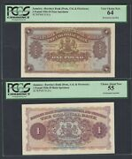 Jamaica Face And Back One Pound 1926-1935 Barclays Bank Ps141s Proof Specimen