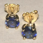 Earrings Natural Gemstone Cubic Ziconia 5 And 6mm 26 Colors Solid Silver Stamped