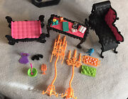 Monster High Freaky Fusion Catacombs Doll House Playset Parts Furniture Lot