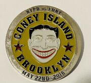 Sought After-unique-coney Island/brooklyn-2016 Fun City Bowl-nypd Challenge Coin