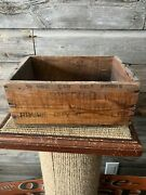 Vintage Buffalo Oil Can Prairie City Oil Wood Crate
