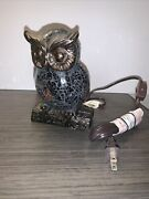 Mosaic Stained Glass Owl Night Light Table Lamp 6.5 Christmas Gift