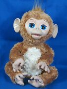 """Furreal Friends Cuddles My Giggly Chimp 17"""" Interactive Monkey Hasbro Works"""