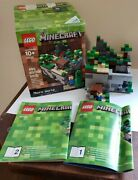 Lego 21102 Minecraft Micro World Set With Box And Instructions Steve And Creeper