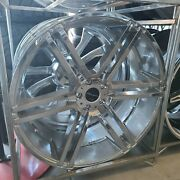 Anddiams️24x10 Giovanna 5x120 Chrome Wheel And Tire Package