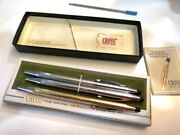 Cross Pens - Century Lustrous Silver And Gold - Totally 3 - In Box - Nice Cond