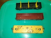Three Lot O Scale Toy Train Cars One Lionel One American Flyer. Christmas Gifts.