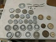 Lot Vtg Old Circus Wagon Cart Cage Wheels Carnival Cage Aluminum Steel O Gauge