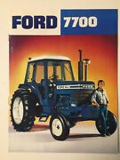 Ford 7700 Tractor W/ Cab Color Brochure 8 Pg Original Vintage '76 Near Mint Cond