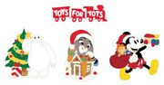 Disney Toys For Tots Pin Set Baymax Judy Hopps Mickey Mouse Dssh Dsf Christmas