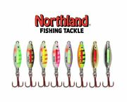 Northland Glo-shot Fire Belly Spoon Ice Fishing Value Assortment