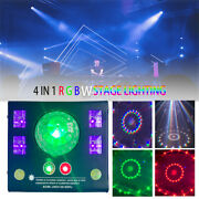4 In 1 Led Sound Activated Project Stage Clubs Light Laser Light Rgbw Lighting