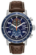 Citizen Eco-drive Menand039s Chronograph Blue Multi Dial 44mm Watch Ca0648-09l
