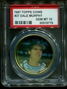 1987 Topps Coins 37 Dale Murphy Braves Low Pop Psa 10 B2999553-776