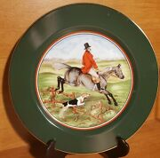 Fitz And Floyd Tally Ho Luncheon Plate, 9 1/4, 1995 Fox Hunt, Excellent