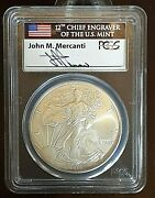 2013 American Silver Eagle Ngc Ms70 - First Strike - Mercanti Signed