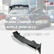 4pcs Carbon + Frp Rear Roof Spoiler Wing For Mini Cooper S 06-13 R56 D-ag Style