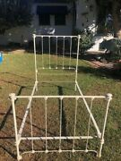Antique Vintage Cast Iron Bed Frame With Rails