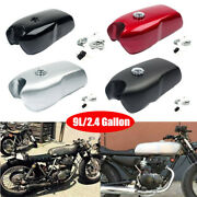 9l/2.4gallon Universal Motorcycle Cafe Racer Seat Fuel Gas Tank And Cap Switch Set