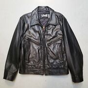 Bnwot Schott Perfecto Leather Motorcycle Bomber Jacket Sz 40 Made In Usa Rare