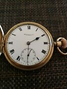 Antique Thomas Russell Sons Liverpool Pocket Watch Hunter Gold Fill Case Repair