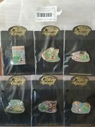 Disney Auction Lonesome Ghosts Complete 6 Pin Set Mickey Donald Goofy Le 100
