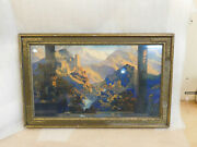 Vntg Maxfield Parrish Framed Large Print Romance 1920and039s-30