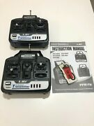 Lot Of 2 Esky 0404 4 Channel Remote Control 72mhz - For Rc Model Airplane