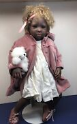 """25"""" Artist Made Doll """"kathleen"""" By Pauline Middleton African American Detailed"""