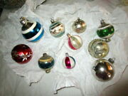 Large Antique Lot Christmas Tree Glass Ornaments-balls -germany